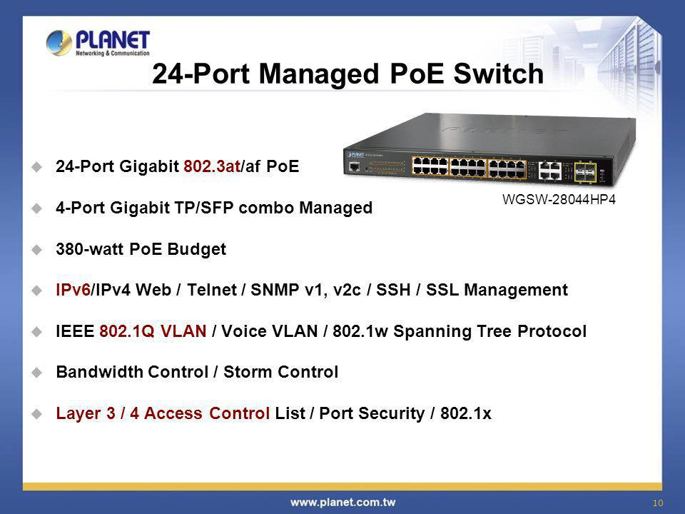 24-Port Managed PoE Switch