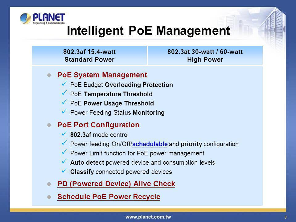 Intelligent PoE Management