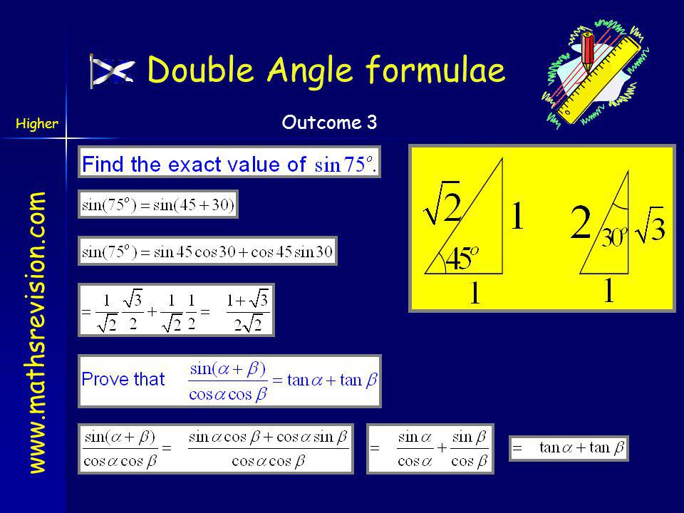 Double Angle formulae