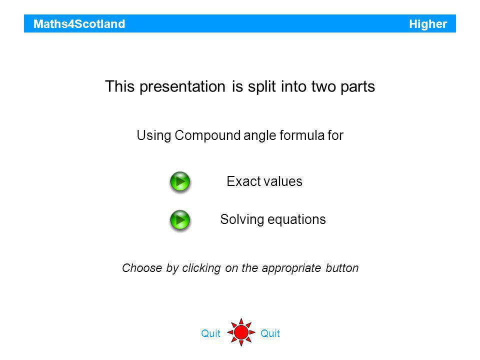 This presentation is split into two parts
