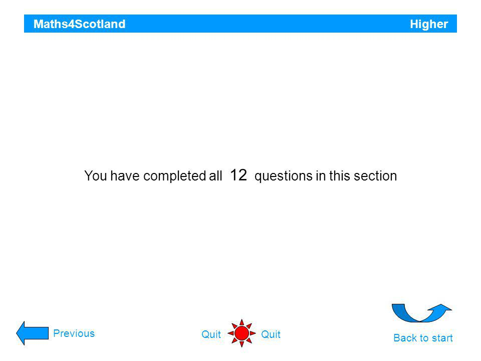 You have completed all 12 questions in this section