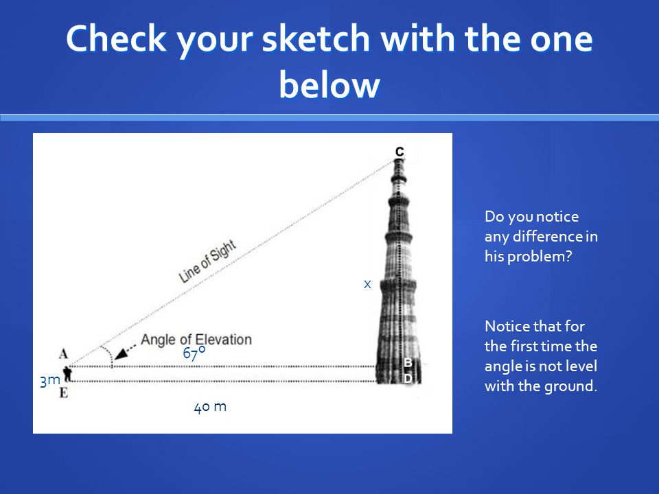 Check your sketch with the one below