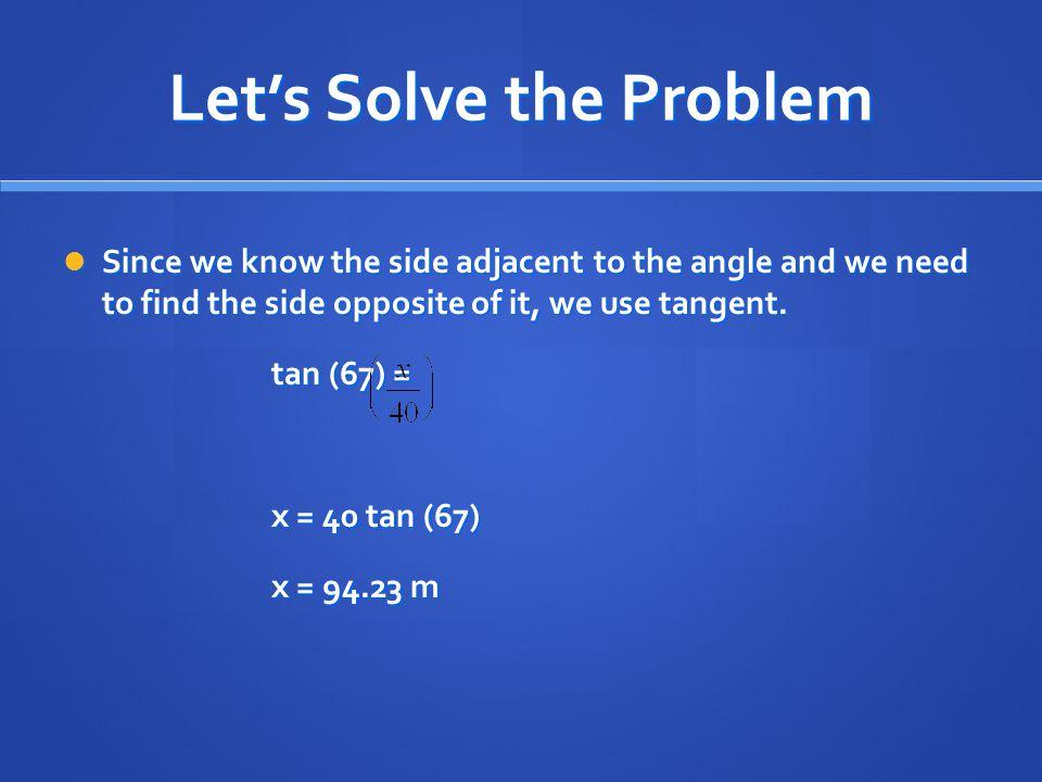 Let's Solve the Problem