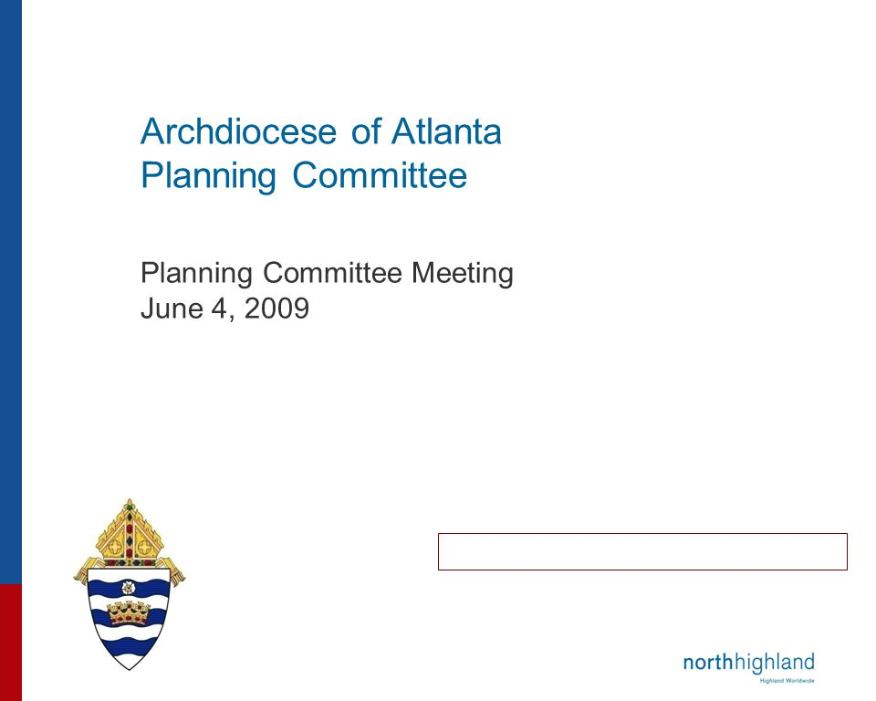 Archdiocese of Atlanta Planning Committee