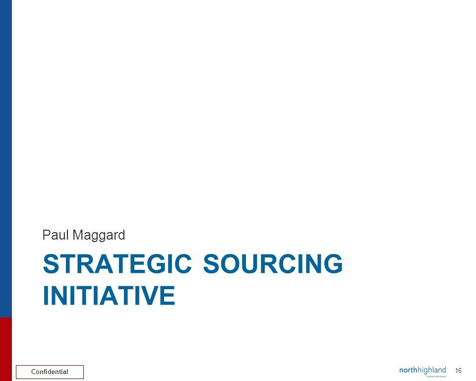 Strategic sourcing initiative