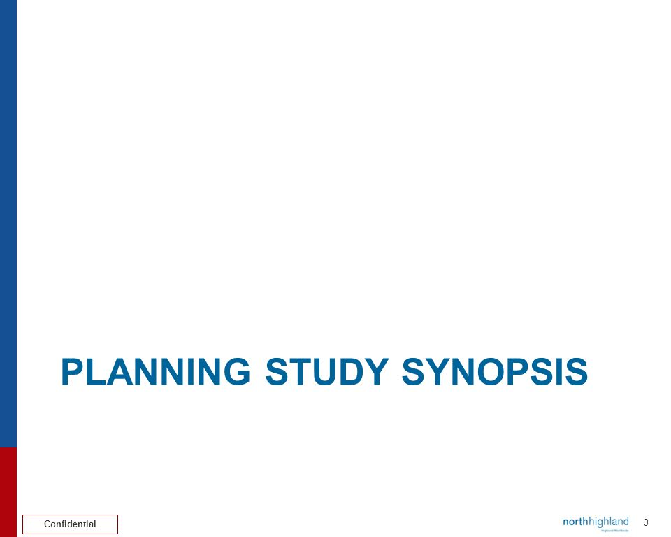 Planning study synopsis