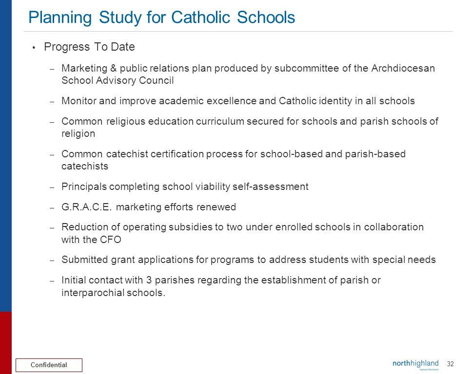 Planning Study for Catholic Schools