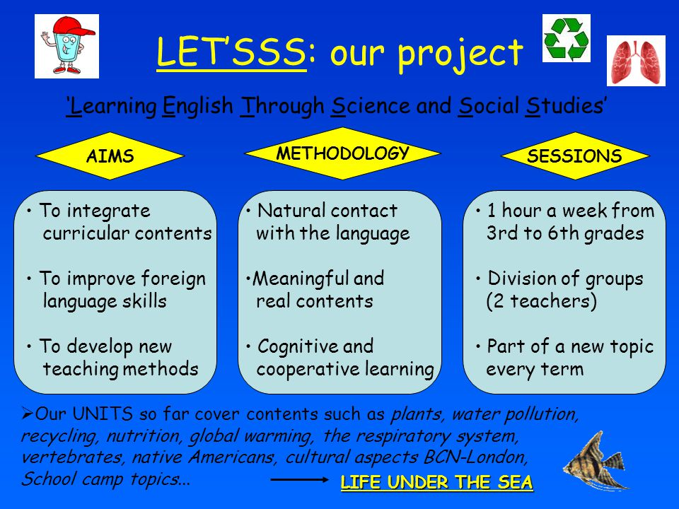 'Learning English Through Science and Social Studies'