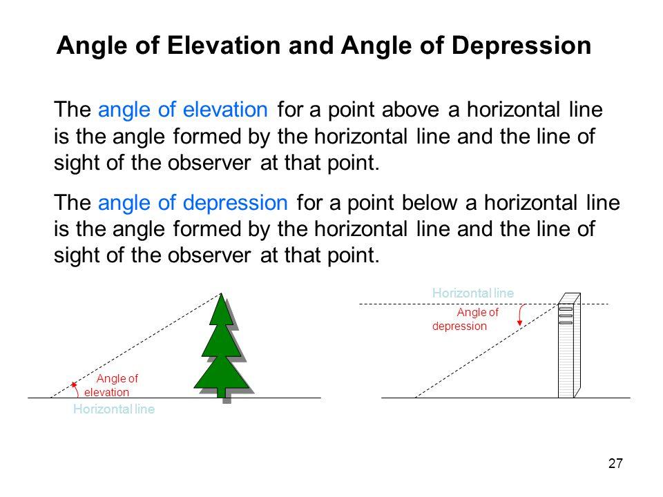 Angle of Elevation and Angle of Depression