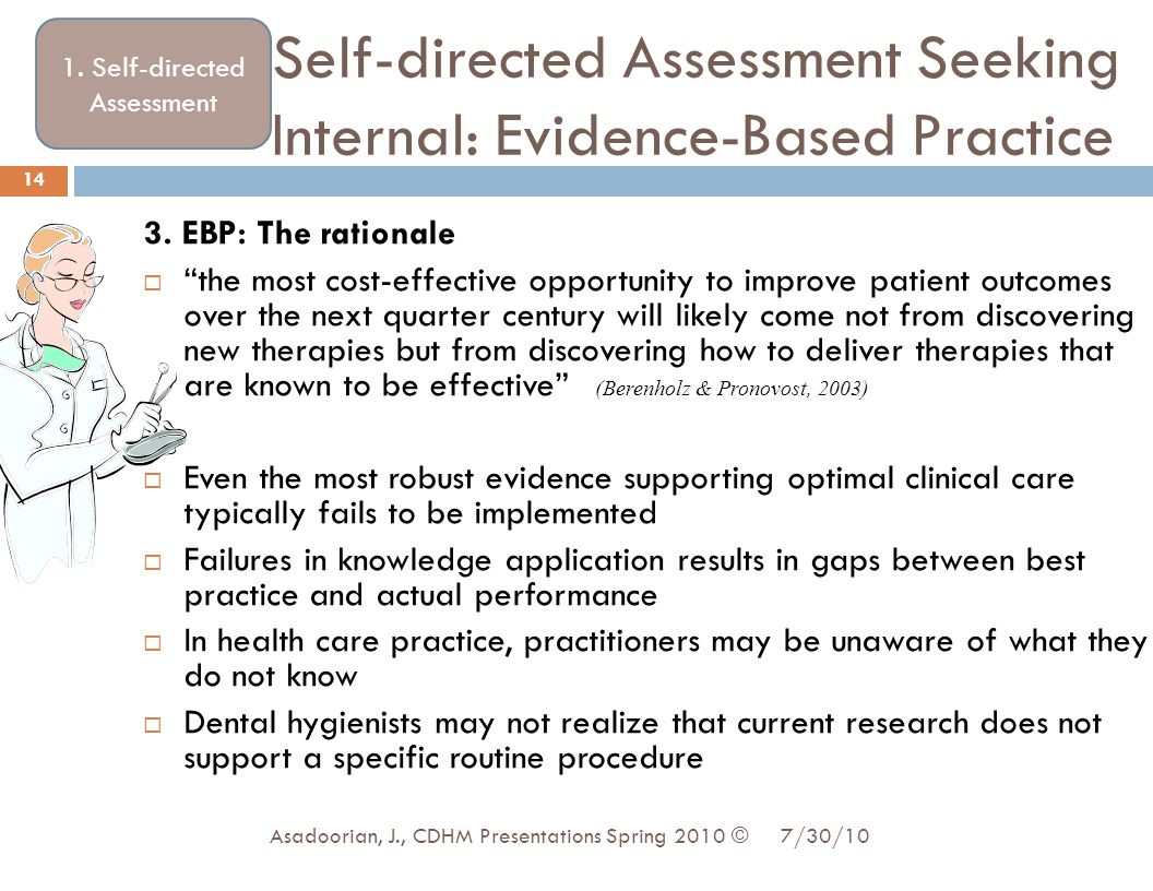 Self-directed Assessment Seeking Internal: Evidence-Based Practice