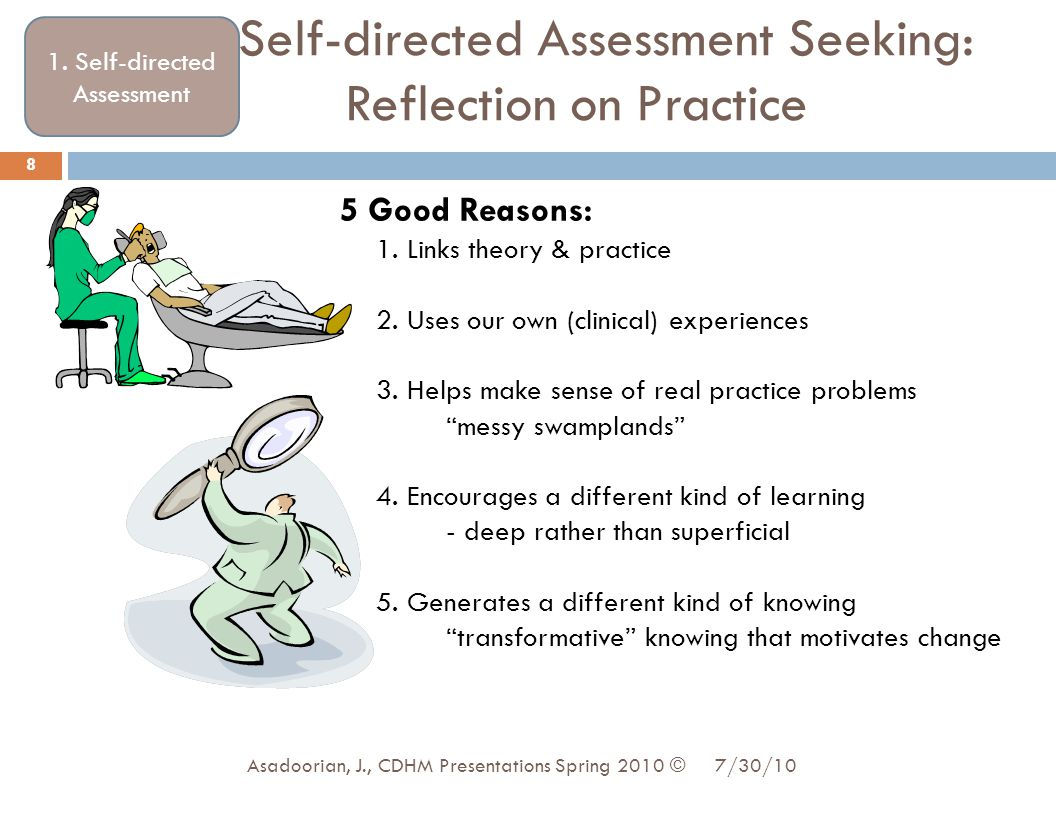 Self-directed Assessment Seeking: Reflection on Practice