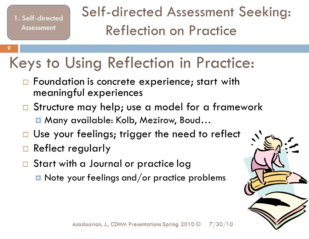 Keys to Using Reflection in Practice: