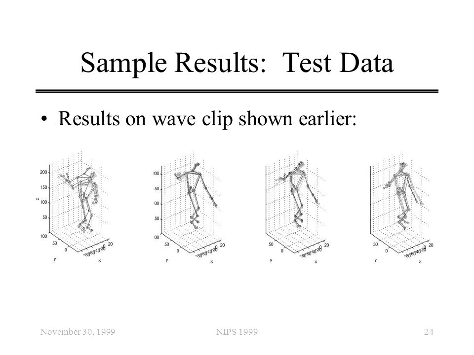 Sample Results: Test Data