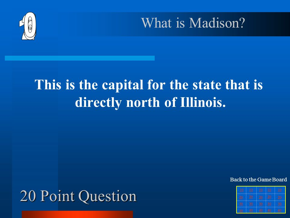 This is the capital for the state that is directly north of Illinois.