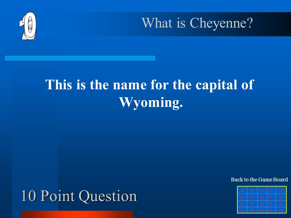 This is the name for the capital of Wyoming.