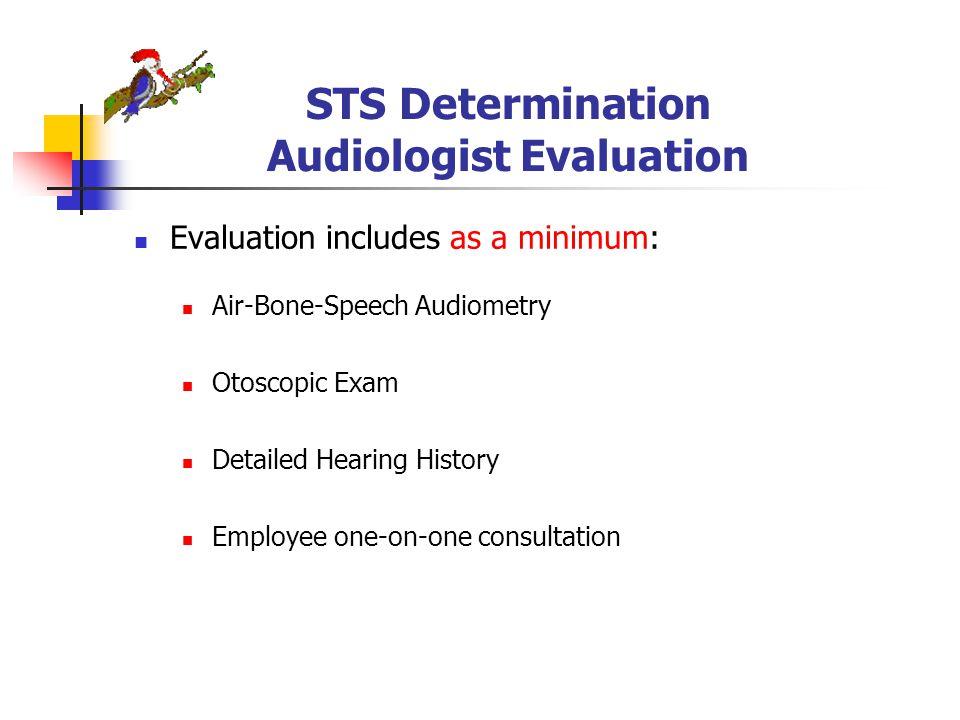 STS Determination Audiologist Evaluation