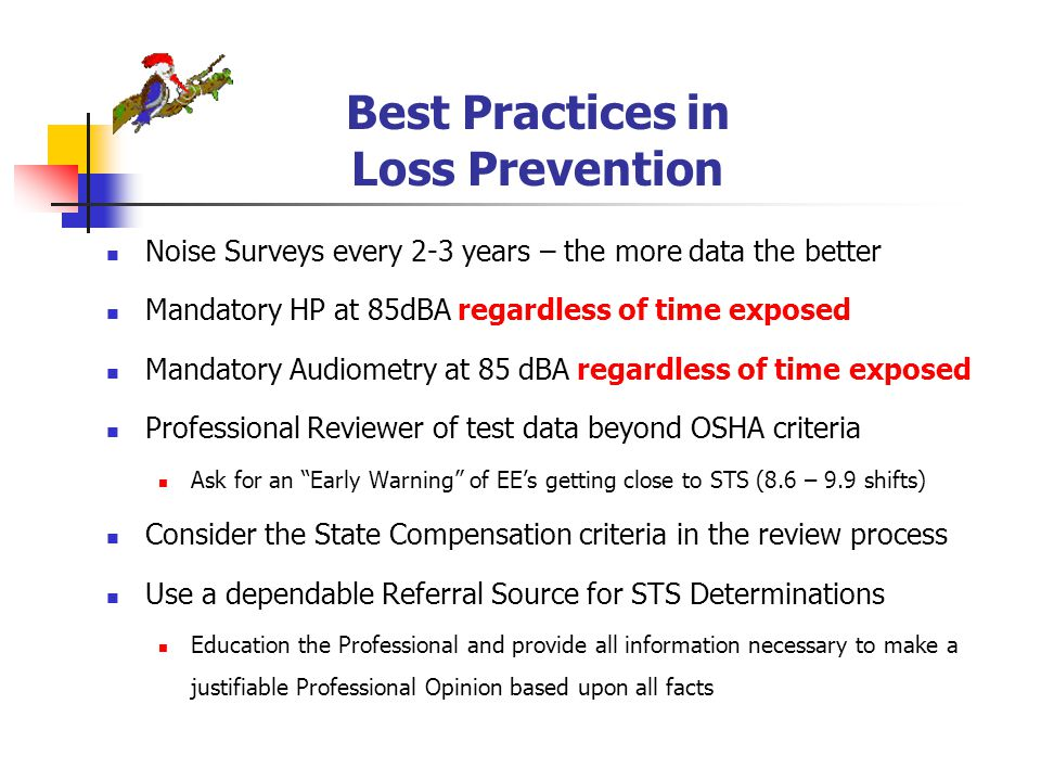 Best Practices in Loss Prevention