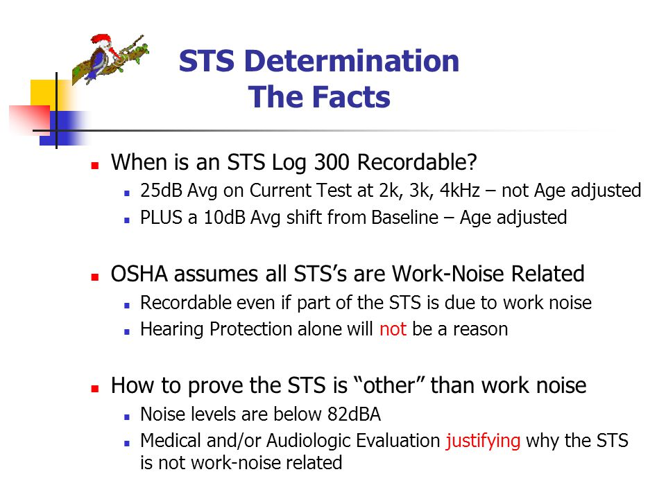 STS Determination The Facts