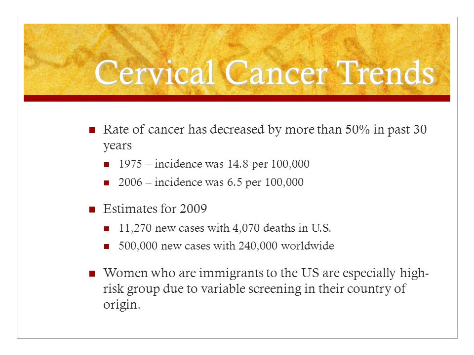 Cervical Cancer Trends
