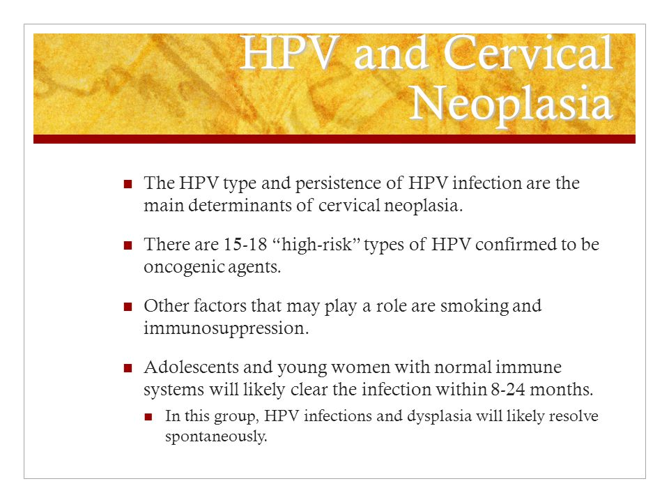 HPV and Cervical Neoplasia