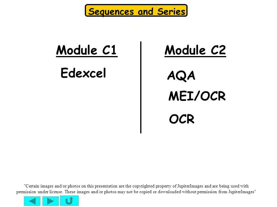 Module C1 Module C2 Edexcel AQA MEI/OCR OCR