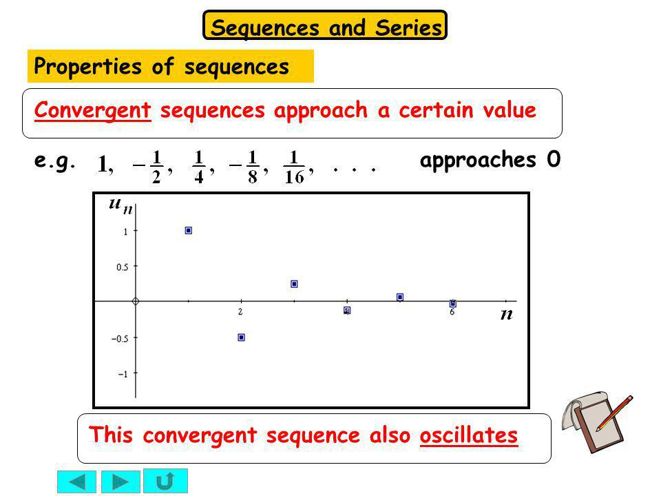 Properties of sequences