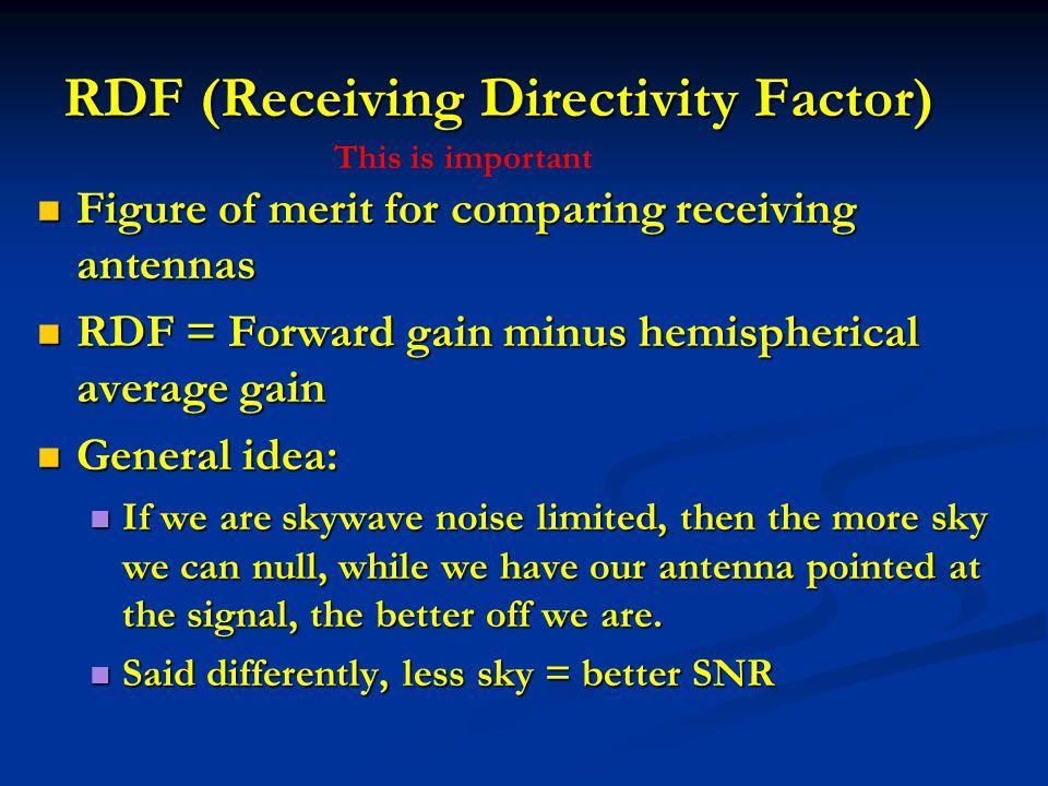 RDF (Receiving Directivity Factor)