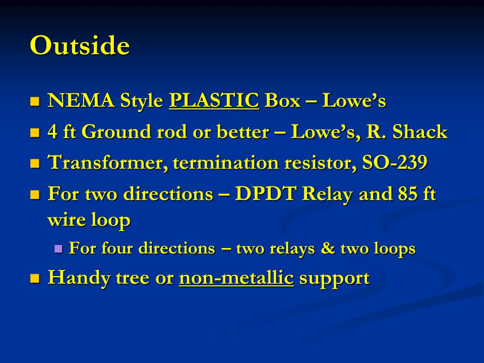 Outside NEMA Style PLASTIC Box – Lowe's
