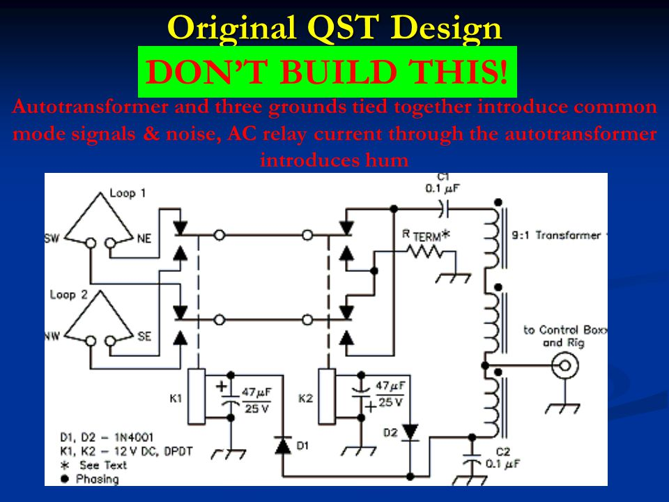 Original QST Design DON'T BUILD THIS!
