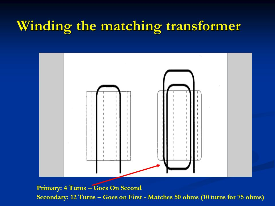 Winding the matching transformer