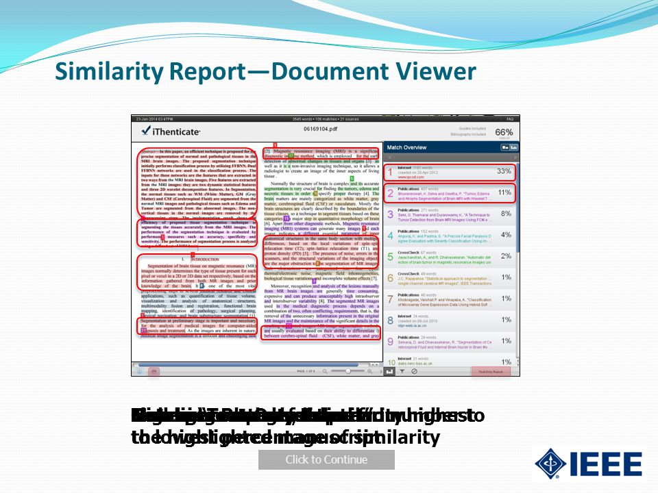 Similarity Report—Document Viewer