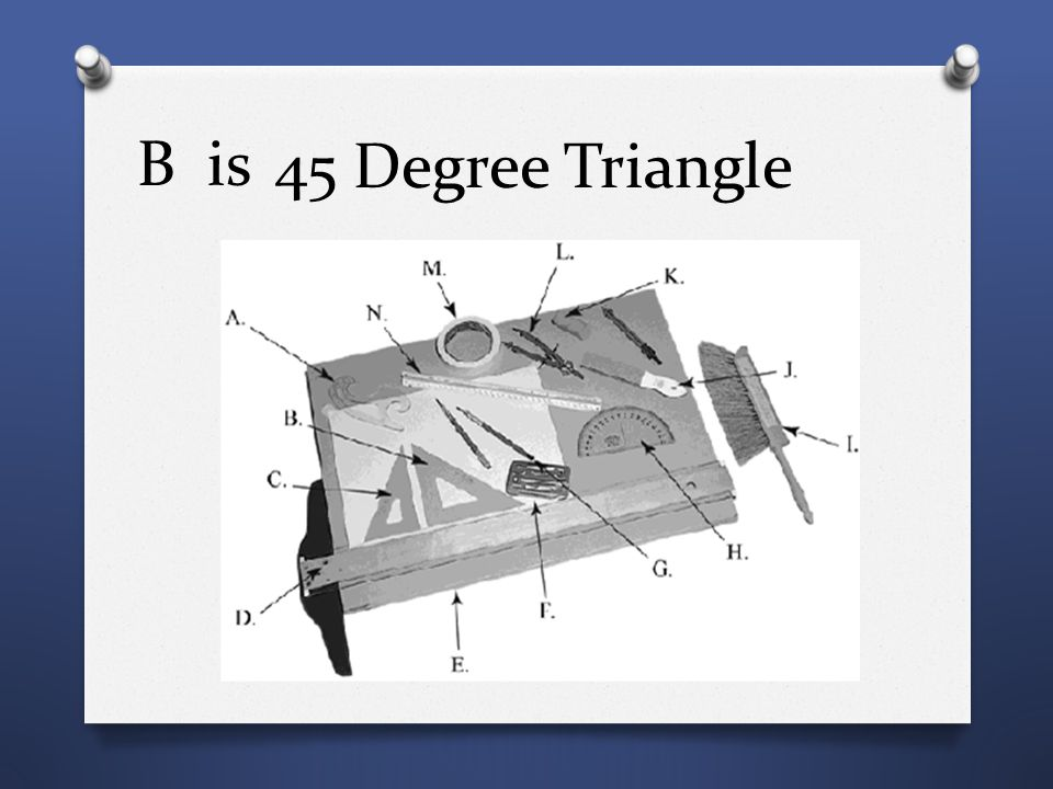 B is 45 Degree Triangle