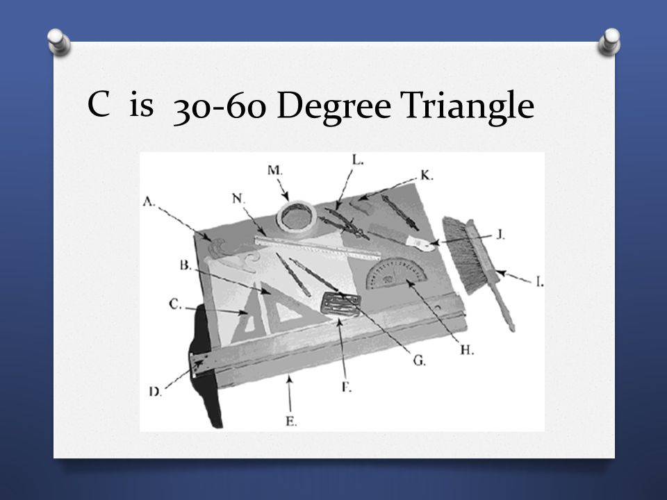 C is 30-60 Degree Triangle