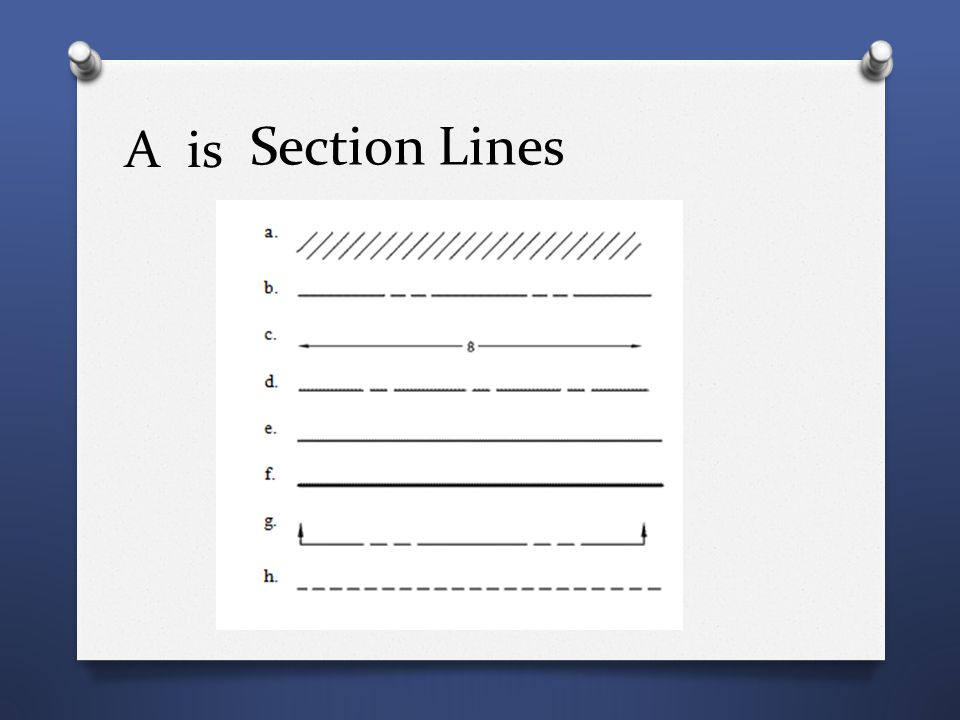 A is Section Lines