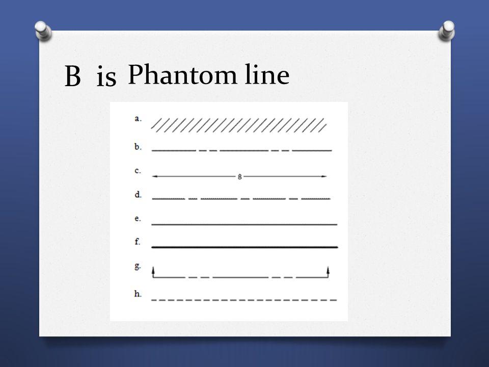 B is Phantom line