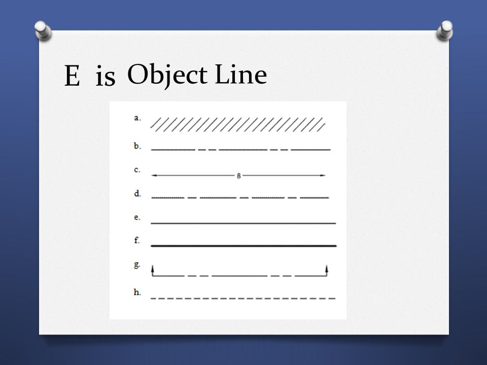 E is Object Line