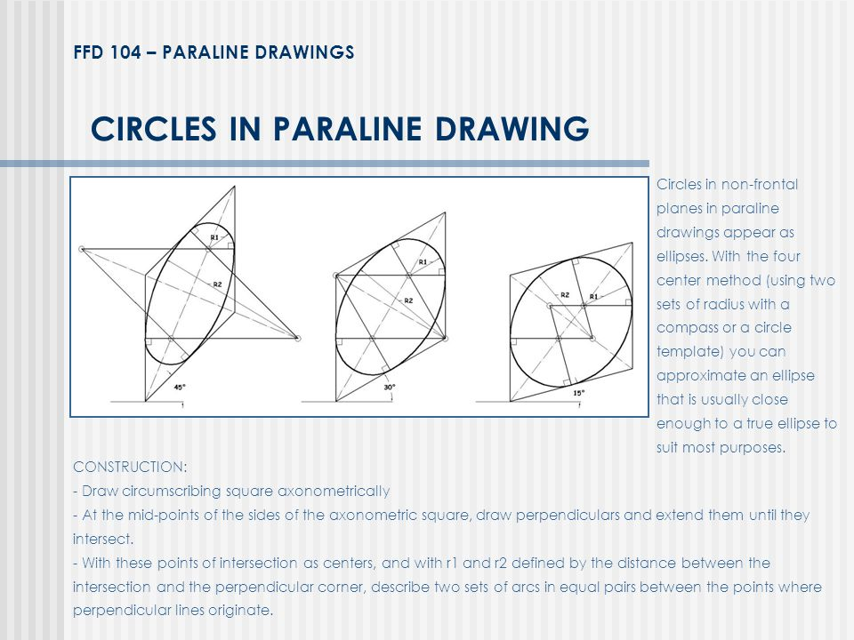 CIRCLES IN PARALINE DRAWING