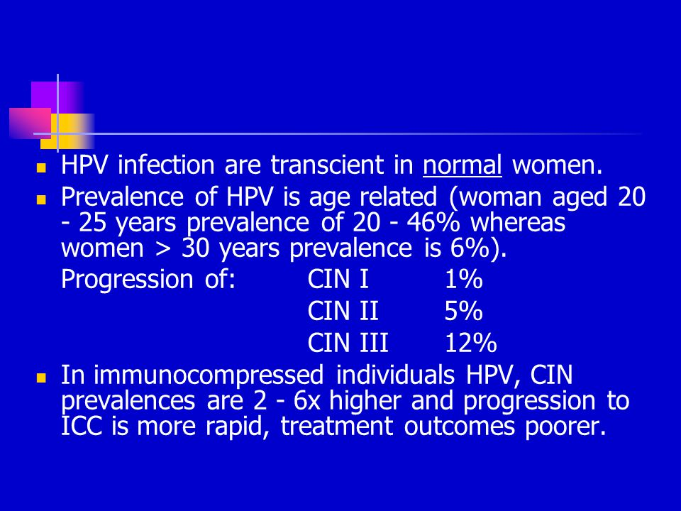 HPV infection are transcient in normal women.
