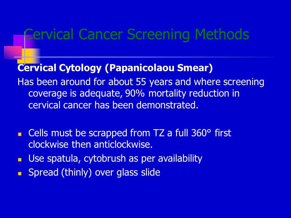 Cervical Cancer Screening Methods
