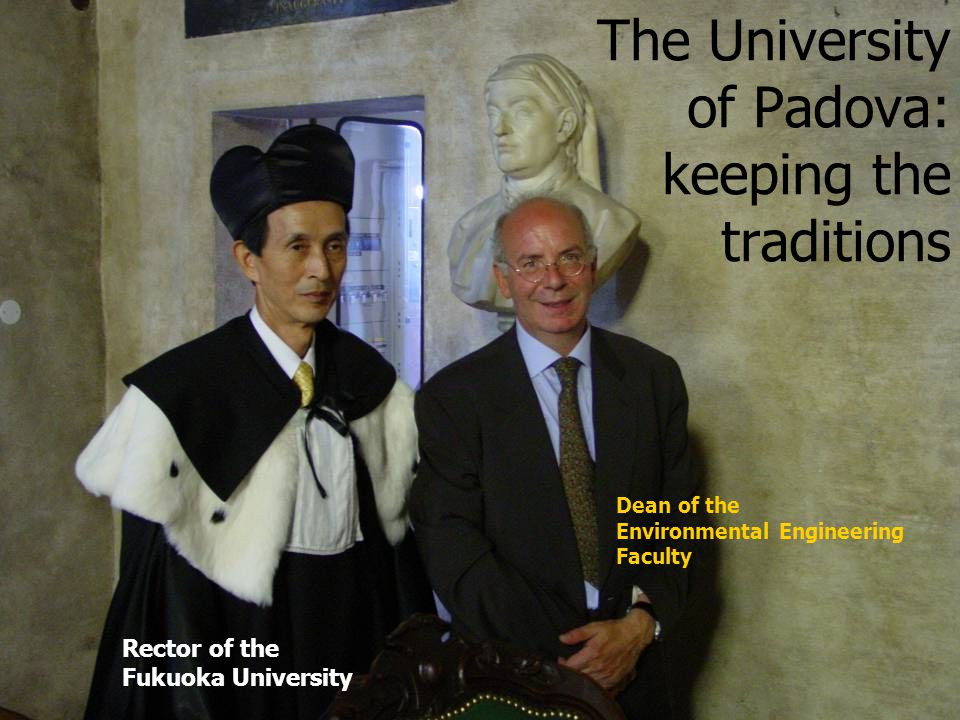 The University of Padova: keeping the traditions