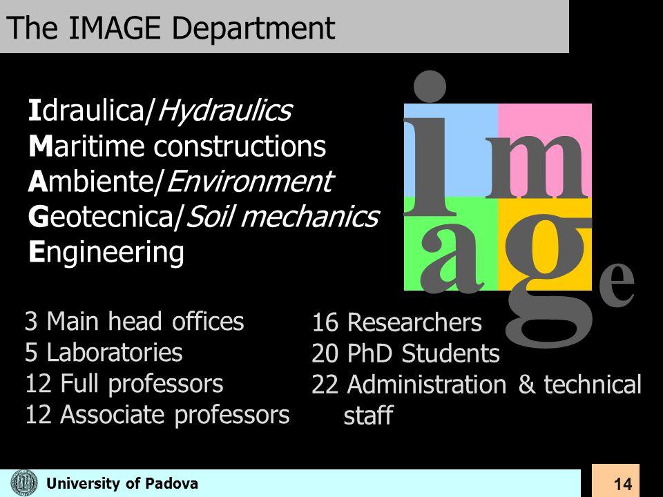 i ge a m The IMAGE Department Idraulica/Hydraulics