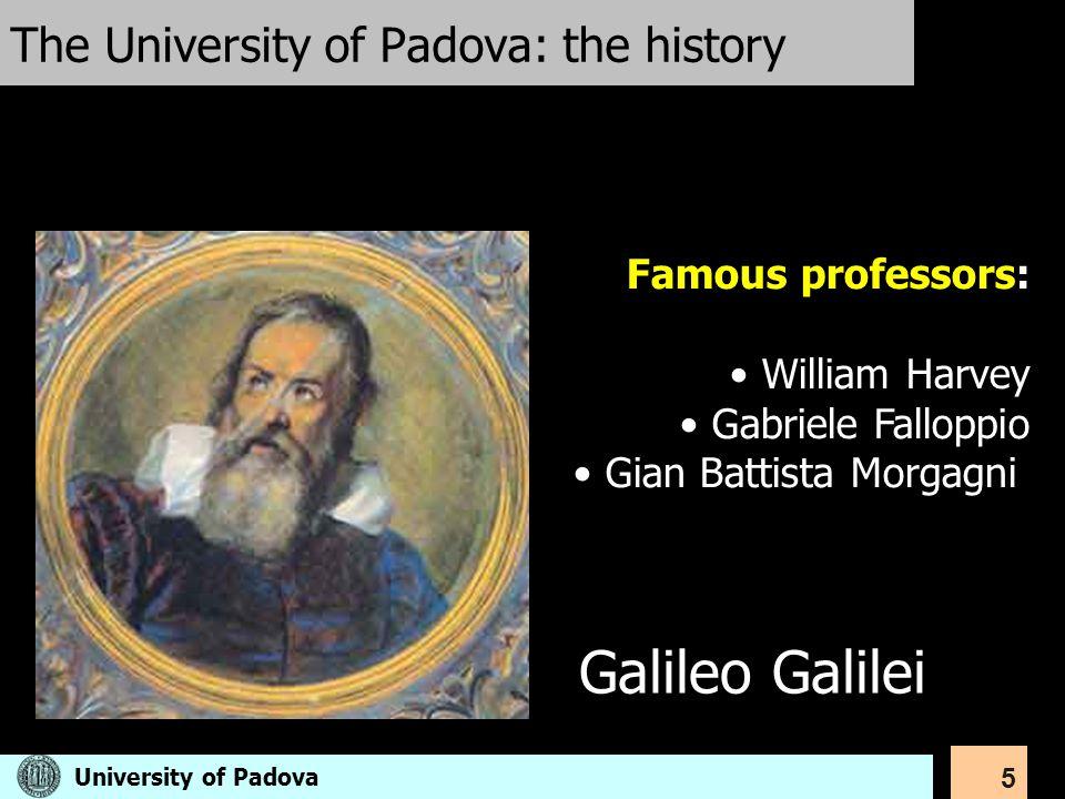 The University of Padova: the history