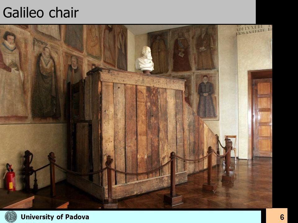 Galileo chair University of Padova