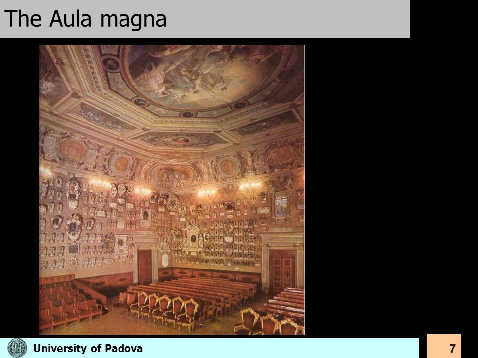 The Aula magna University of Padova