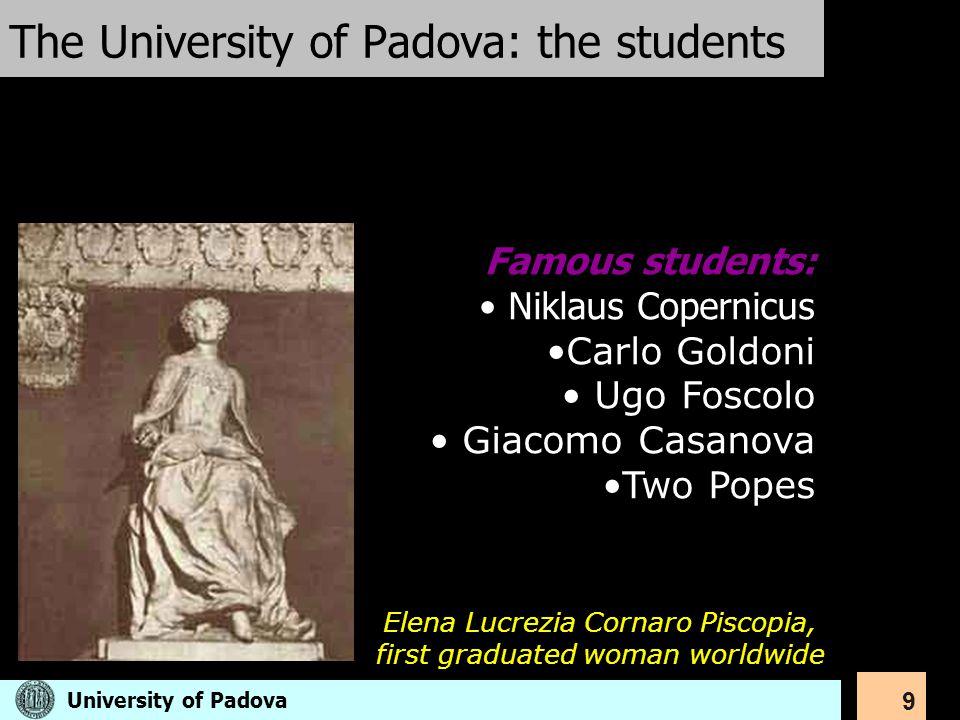 The University of Padova: the students