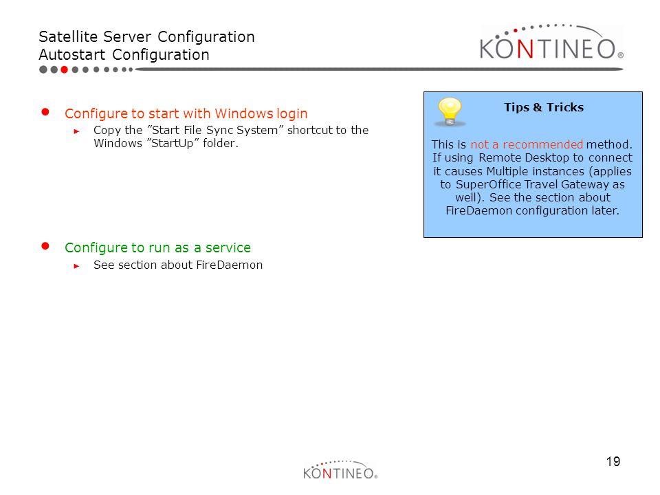 Satellite Server Configuration Autostart Configuration
