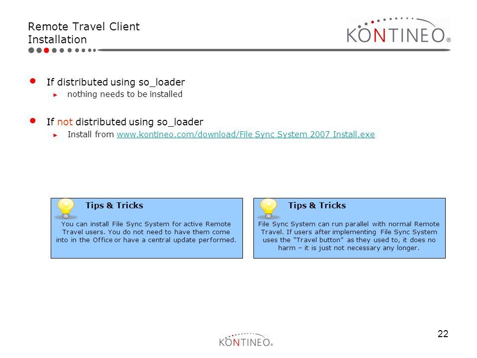 Remote Travel Client Installation
