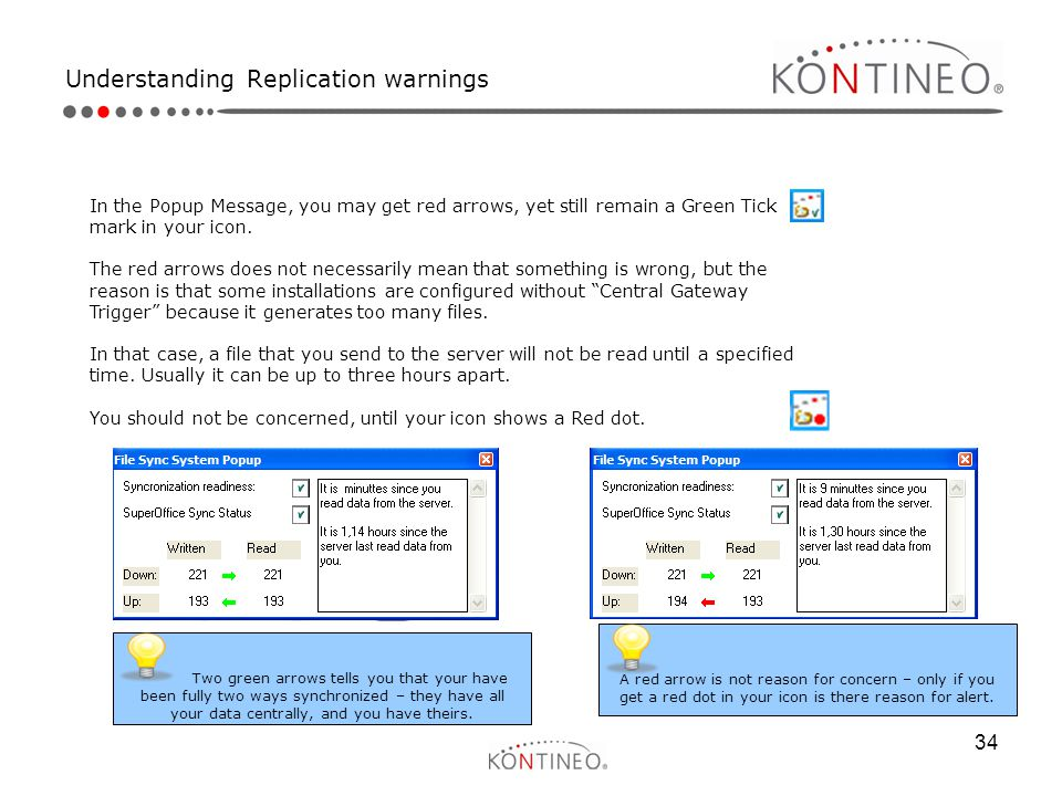 Understanding Replication warnings