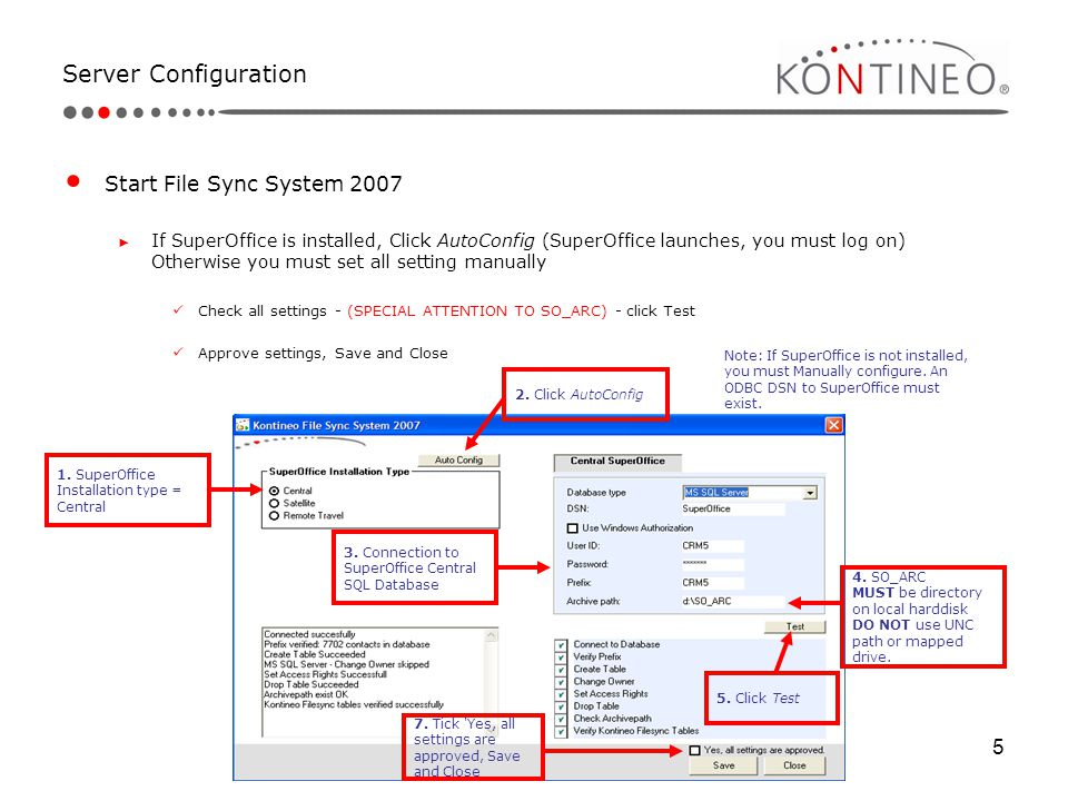 Server Configuration Start File Sync System 2007