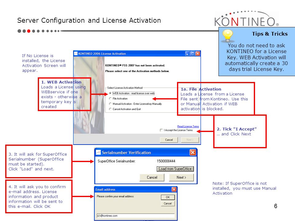 Server Configuration and License Activation